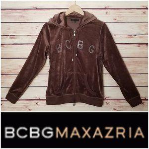 BCBG Max Azria Velour Diamond Track Jacket